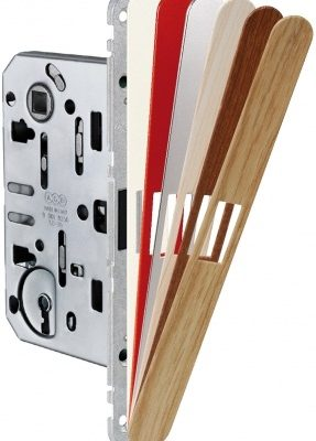 Cerradura magnética para puertas de paso AGB Sistemas Frontal intercambiable Revolution XT