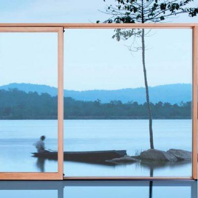 Herraje para Ventana Corredera Elevadora de madera minimalista AGB Sistemas modelo Imago