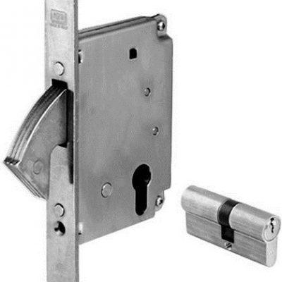 Cerradura de gancho ocultable con cilindro para puertas metálicas AGB Sistemas perfiles metálicos