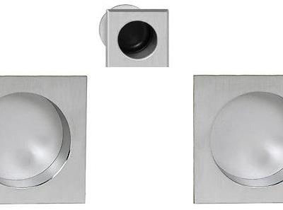 Tiradores cuadrados ciegos para puerta corerdera AGB Sistemas Scivola
