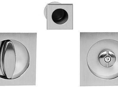 Tiradores cuadrados Pomo botón para puerta corerdera baño AGB Sistemas Scivola
