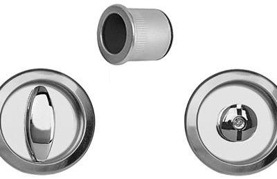 Tiradores redondos para puerta corredera baño Pomo botón AGB Sistemas Scivola