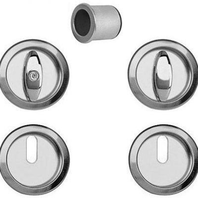 Tiradores redondos para puerta corredera baño Pomo botón - llave AGB Sistemas Scivola