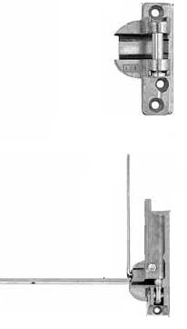 Soporte de Compás y Bisagra inferior AGB Sistemas para ventana Oscilobatiente de Madera 130 Kilos
