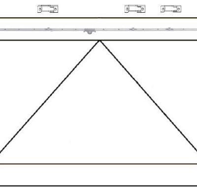 Herraje para ventana basculante de madera AGB Sistemas