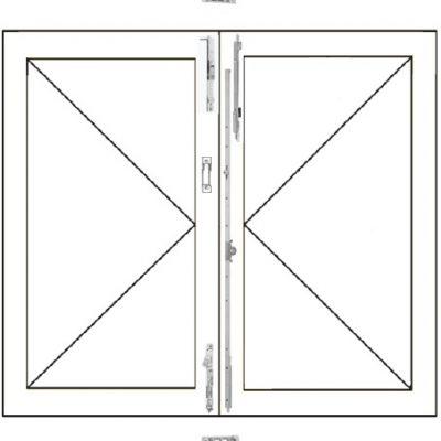 Ventana practicable de dos hojas de madera AGB Sistemas