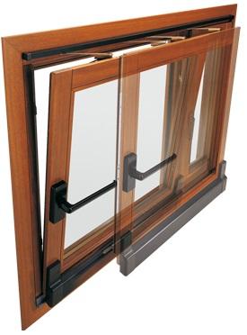 Herraje para Ventana Corredera OsciloParalela de madera AGB Sistemas Galileo Automática